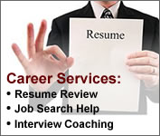 career services resume job search interview coaching